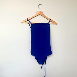 New COS Square Neck Royal Blue Swimsuit